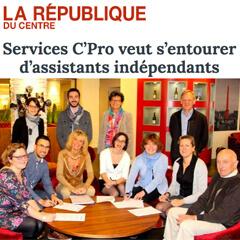 Article La république du Centre - Service C' Pro veut s'entourer d'assistants indépendants
